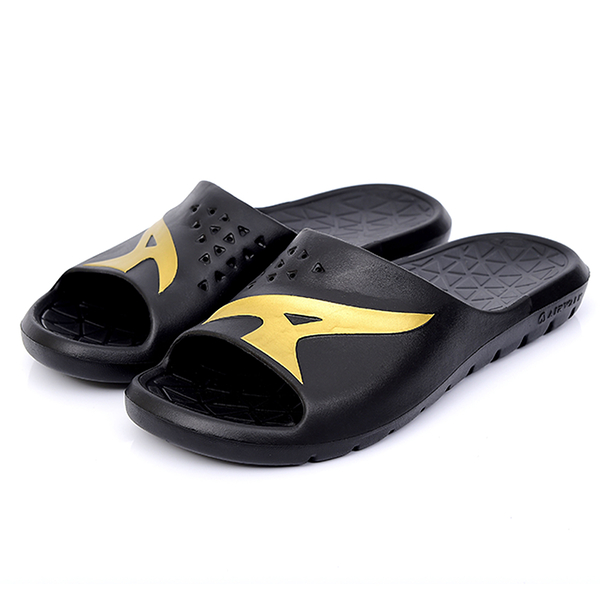 AIR WALK 男鞋 女鞋 拖鞋 休閒 防水 黑 金LOGO 【運動世界】 A755220326