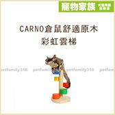 寵物家族*-CARNO卡諾 倉鼠舒適原木-彩虹雲梯
