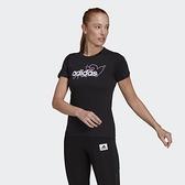 Adidas W HEART G T 女款 黑色 CORE/NEO 休閒 短袖上衣 GL6844 【KAORACER】