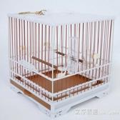 繡眼塑鋼鳥籠方形玻璃絲條顛頦麻料塑料洗澡籠子 交換禮物YXS