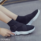 PAPORA休閒懶人輕量布鞋KK1380休閒鞋 黑色