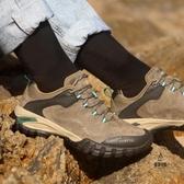 登山鞋女低幫運動女鞋防水防滑透氣輕便旅游爬山徒步鞋男【愛物及屋】