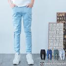 出清不退換 超彈性牛仔褲【T1625】OBIYUAN 素面褲頭鬆緊單寧褲