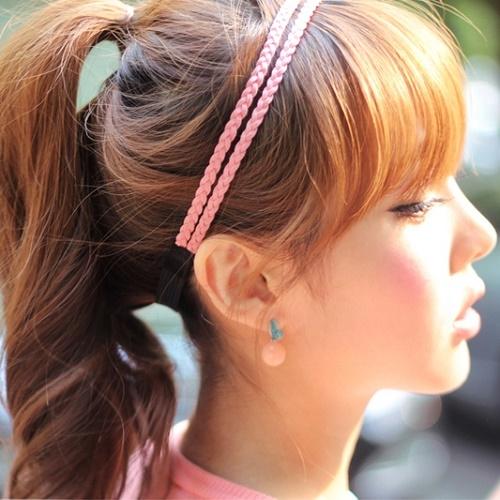 【NiNi Me】 夾式耳環  甜美可愛糖果色粉色圓珠時尚氣質夾式耳環  夾式耳環N9025