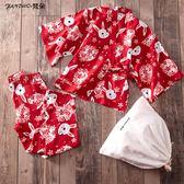 85折 日式睡衣女純棉兔子和服睡衣兩件套汗蒸服 【99狂歡購】