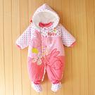 連身衣 女嬰幼童 女童裝 可愛小白兔粉色...