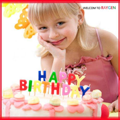 蛋糕蠟燭 Happy Birthday英文字母亮粉生日蠟燭 13支裝