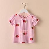 女童短袖純棉t恤夏裝寶寶夏季兒童打底衫韓版童裝上衣【桃可可服飾】