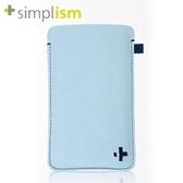 【A Shop】Simplism iPhone 5s/5c/5/4S/4/3GS/3G  超細纖維保護套-藍