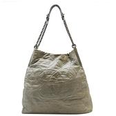 CHANEL 香奈兒 灰色牛皮肩背斜背兩用包 CC Chain Tote Shoulder Bag【BRAND OFF】