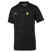 Puma Ferrari 黑 迷彩 男 短袖 上衣 法拉利 運動 休閒 車迷系列 滿版印花 短袖 T恤 76239302