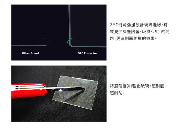 【STC】9H鋼化玻璃保護貼 - 專為LEICA Q (Typ 116) 觸控式相機螢幕設計 – 高透光、防爆裂