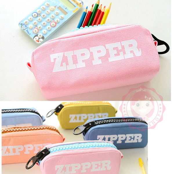 韓國文具大容量簡約帆布鉛筆盒鉛筆袋(8款)【庫奇小舖】