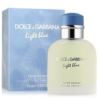 喬雅香水美妝~ D&G Dolce&Gabbana Light Blue 淺藍 男性淡香水 75ML