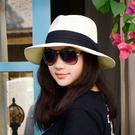 時尚夏日遮陽草帽 可折疊沙灘遮陽帽2