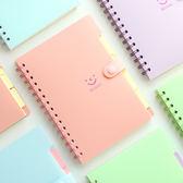 ✭慢思行✭ 【P189】 笑臉側翻線圈筆記本(小) 學生 設計 辦公 創意 文具 科目 微笑 記事本