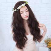 中長假髮韓系假髮女長捲髮大波浪中分蛋捲韓系可愛自然蓬鬆玉米燙長髮