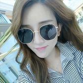 現貨-韓版vintage時尚百搭新款周揚青同款太陽眼鏡金屬超輕墨鏡網紅大方框個性韓版96