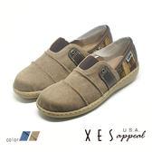 XES 女鞋 懶人鞋 樂福鞋 便鞋 帆布鞋 丹寧風格 MIT製 _牛仔卡其