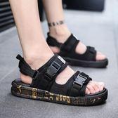 一字凉鞋 涼鞋男潮男士夏季拖鞋兩用沙灘鞋韓版時尚外穿越南涼拖一字拖 Cocoa