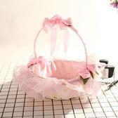 婚慶花籃結婚花童撒花花籃新品伴童手提小花籃婚禮手提花籃 促銷價