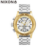 NIXON手錶 原廠總代理A404-2062 THE 38-20 Chrono 銀金色 潮流時尚鋼錶帶 男女 運動 生日情人節禮物