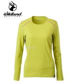 丹大戶外用品 荒野【Wildland】女輕量鍺纖維親膚保暖衣 型號 0A62665-40 芥末黃