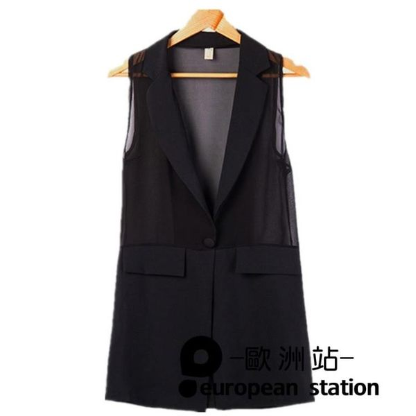 外套/中長款背心西裝背心女無袖「歐洲站」