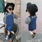女童牛仔裙童裝2020春秋裝新款韓版兒童裙子2-3-5-6歲寶寶牛仔裙女童背帶裙