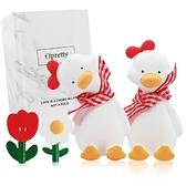 OPretty 歐沛媞 車用香氛擴香石擺飾-元氣加油鴨禮盒(紅色)