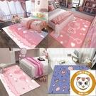 地墊地毯臥室床邊房間布置客廳可愛免洗時尚【小獅子】