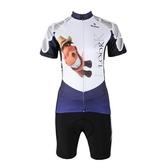 自行車衣套裝-含短袖腳踏車服+單車褲-快乾抗菌面料女運動服69u88【時尚巴黎】