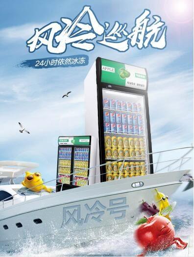 冰箱 睿美展示柜冷藏柜立式商用双门冰柜冰箱啤酒超市水果保鲜柜饮料柜igo 维科特3C