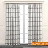 橫條色織窗紗 寬200x高165cm 米咖色款