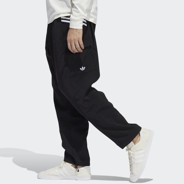 ADIDAS WORKSHOP 2.0 男裝 女裝 長褲 工裝褲 寬版 口袋 調節褲口 休閒 黑【運動世界】GD3512