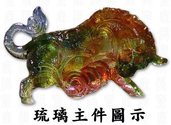 鹿港窯~居家開運水晶琉璃文鎮~十二生肖-牛◆附精美包裝◆附古法制作珍藏保證卡◆免運費送到家