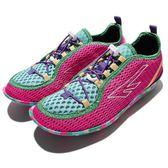 HI-TEC Zuuk W 絲瓜鞋 戶外專用品牌 桃紅 綠 彩色大底 輕量休閒鞋 女鞋【PUMP306】 O002518078