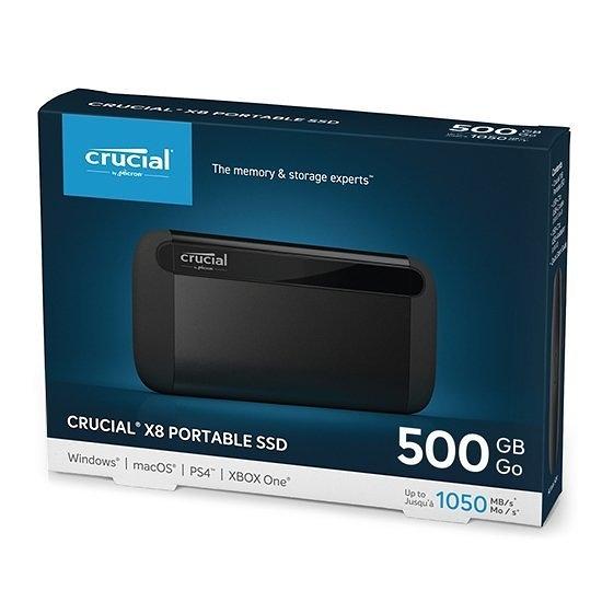 美光 Micron Crucial X8 500GB 外接式 SSD 500G