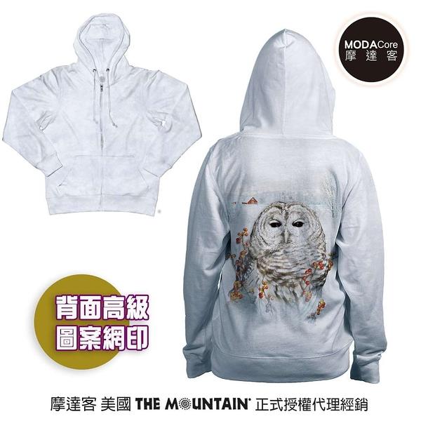 摩達客 預購-美國進口The Mountain 秋之貓頭鷹 女版長袖連帽外套