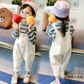 女童套裝童裝兒童背帶褲吊帶褲兩件套寶寶潮【時尚大衣櫥】