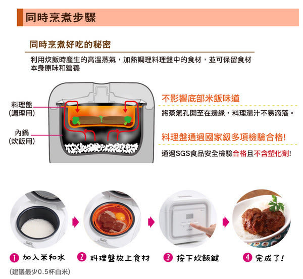 TIGER虎牌 3人份tacook微電腦電子鍋JAJ-A55R