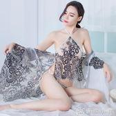 古典肚兜性感透視裝情趣內衣女開檔露乳激情套裝制服用品SM三件套  優家小鋪