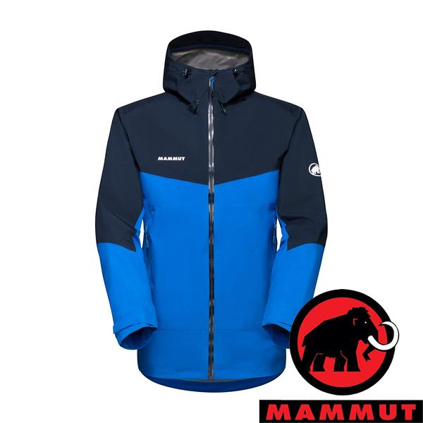 【MAMMUT 長毛象】Convey 男 GT單件式連帽外套『冰藍/海洋藍』1010-28450 外套 冬季 保暖 禦寒