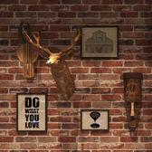 復古3d立體仿古磚頭磚紋磚塊牆紙發廊咖啡餐廳飯店酒吧工業風壁紙 NMS名購居家