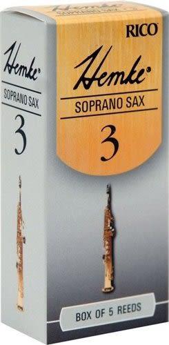 【金聲樂器廣場】全新 美國 Rico Hemke Soprano sax 高音 薩克斯風 竹片 5片裝