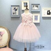 正韓童裝2018女童女孩中小童夏季新款甜美背心裙公主裙連衣裙洋裝禮物限時八九折