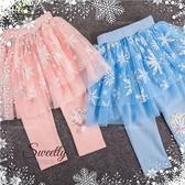 冰雪公主~亮金雪花織花束網紗內搭褲裙-萬聖節聖誕節(300427)【水娃娃時尚童裝】