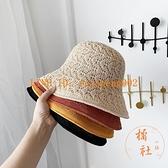 雙面漁夫帽女韓版百搭遮陽帽夏季薄款透氣遮臉防曬帽【橘社小鎮】