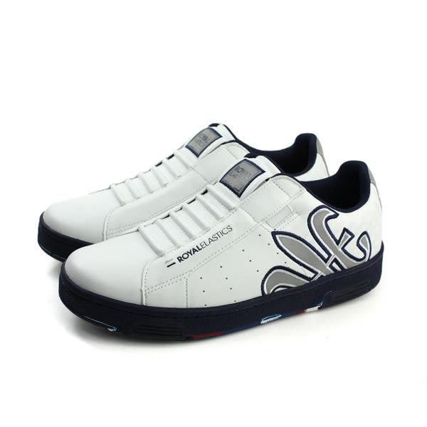 ROYAL ELASTICS 懶人鞋 休閒鞋 舒適 好穿 白色 男鞋 02273-058 no557