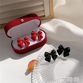 S925銀針 日韓甜美簡約蝴蝶結耳釘小眾2020年新潮耳環女耳夾B515 小艾新品